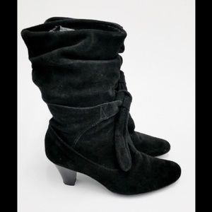 Bakers Black Boots Suede Knee High Slouch Size 9
